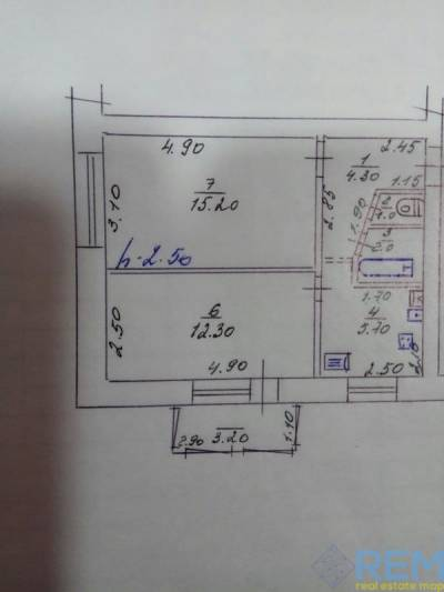 2-комн., 42 кв. м., Санаторная, Березовское, Дергачевский район район