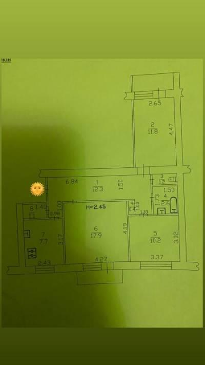 3-комн., 64 кв. м., Селянская, Завод Шевченка, Харьков, Новобаварский (Октябрьский) район