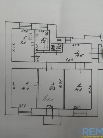 3-комн., 69 кв. м., Верховский пер., ЮЖД, Холодногорский (Ленинский) район