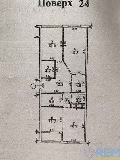3-комн., 97 кв. м., Академика Сахарова, Лески, Лиманський район