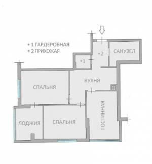 2-комн., 74 кв. м., Массив Радужный, Таирова, Одесса, Киевский район