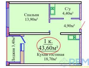 1-комн., 44 кв. м., Жаботинского, Таирова, Одесса, Киевский район