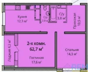 2-комн., 64.8 кв. м., Жаботинского, Таирова, Одесса, Киевский район