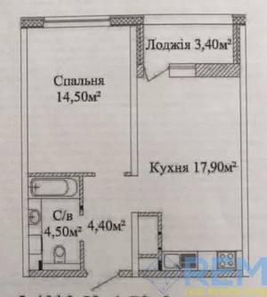 1-комн., 43 кв. м., Жаботинского, Таирова, Одесса, Киевский район