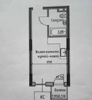 1-комн., 22.02 кв. м., Радостная, Черемушки, Одесса, Малиновский район